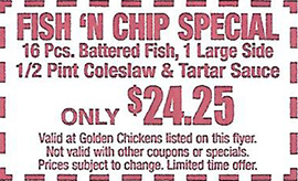 Fish 'n chip special